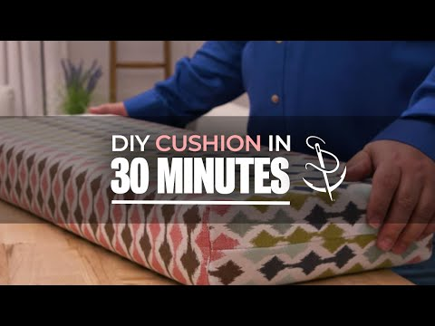 Make A Box Corner Cushion - The 30 Minute Cushion