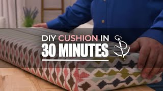 Make a Box Corner Cushion - The 30 Minute Cushion