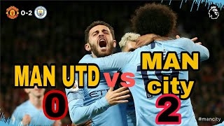 Manchester united vs Manchester city || Premier league highlights