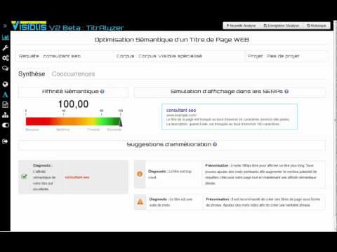 Visiblis TitrAlyser: Tutoriel analyse et optimisation de titre de page WEB