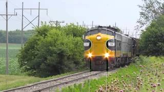 Keokuk Junction Rwy. F Unit-led WB Freight - June 24, 2013
