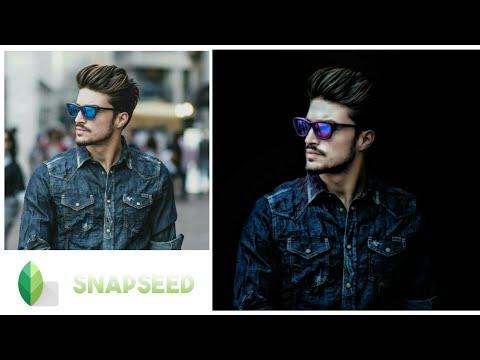 Dark Tone Portrait photo effect Snapseed editing tutorial - Photoshop editing | android | TKI