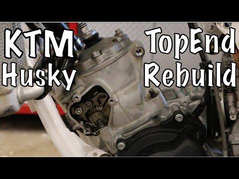 KTM Husqvarna 2 Stroke Top End Rebuild Tutorial (Husqvarna TC 125) *UPDATE* in Video description