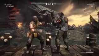 【閲覧注意】[PS4]  Mortal Kombat X 北米版  超絶グロい格ゲー!!モーコン!!  初心者モータリアン練習中
