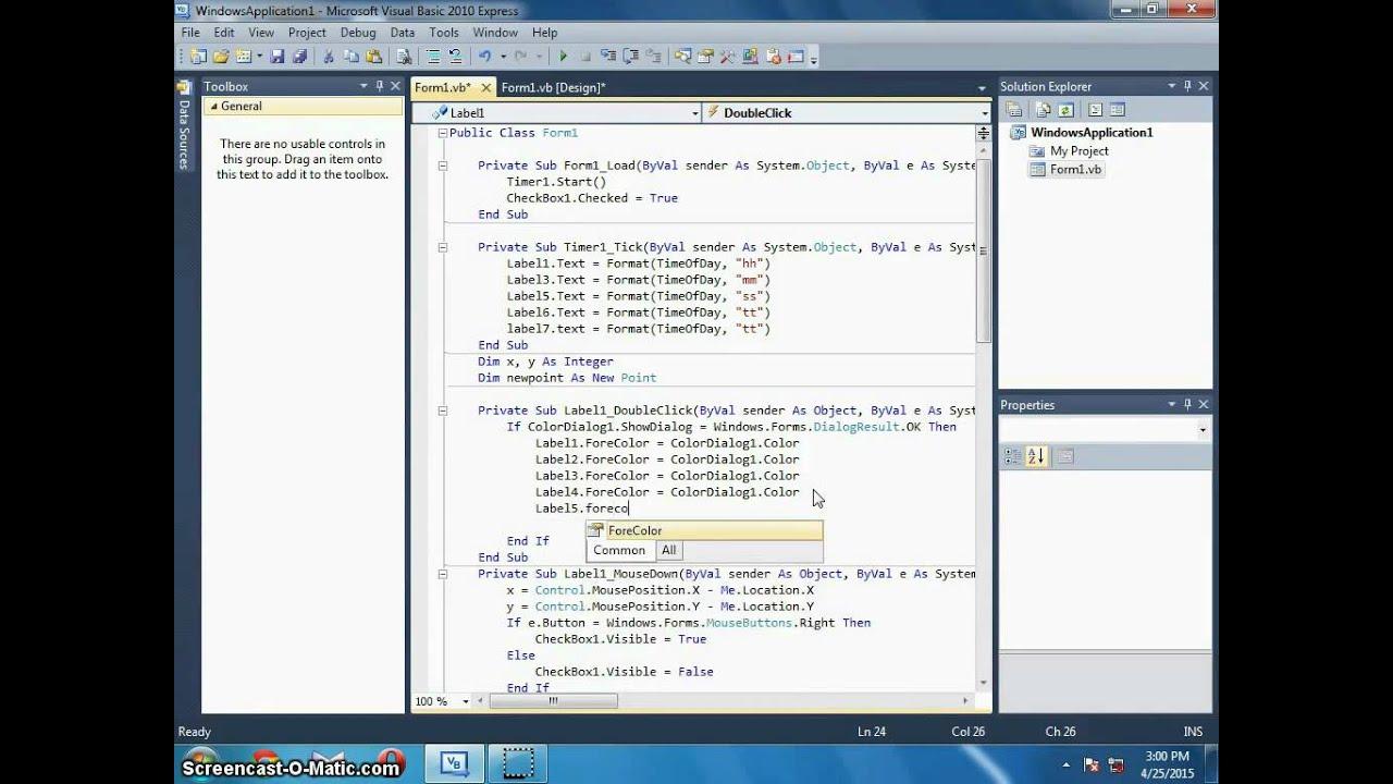 How to make a Digital Clock Desktop Gadget using VB NET