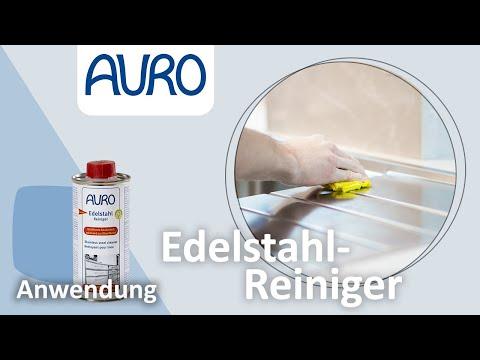 AURO Anwendung Edelstahlreiniger