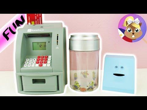 3 NAPAKA-COOL NA MGA ALKANSYA | ATM para sa bahay | MONEY COUNTER para sa math haters | FACE BANK