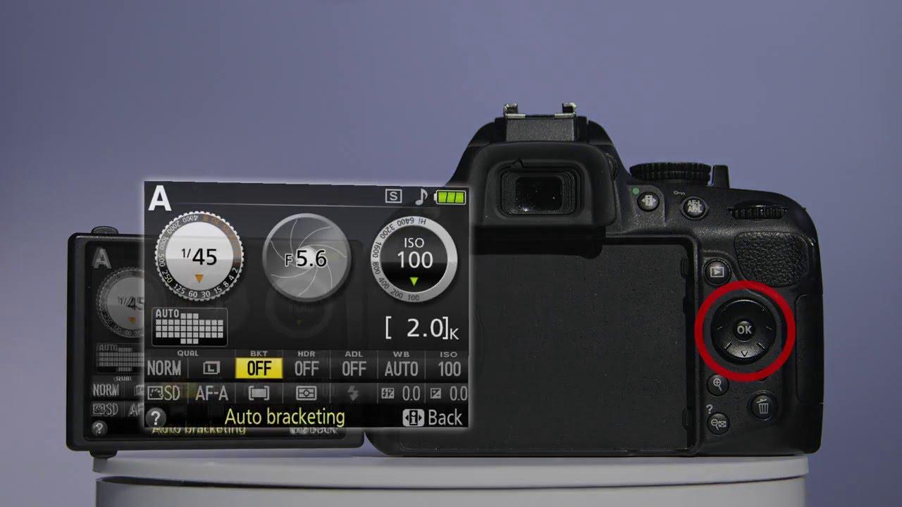 setting up exposure bracketing on a nikon d5200 youtube rh youtube com With the D7000 Bracketing Photo Bracketing Exposure Wheel