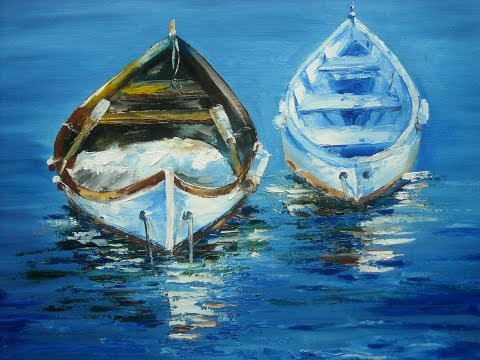 "Palette knife, oil painting workshop ""Boats"" with Svetlana Kanyo"