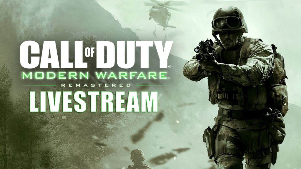 call of duty modern warfare remastered livestream youtube. Black Bedroom Furniture Sets. Home Design Ideas
