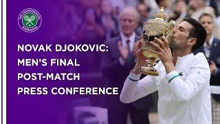 Novak Djokovic Men's Final Press Conference