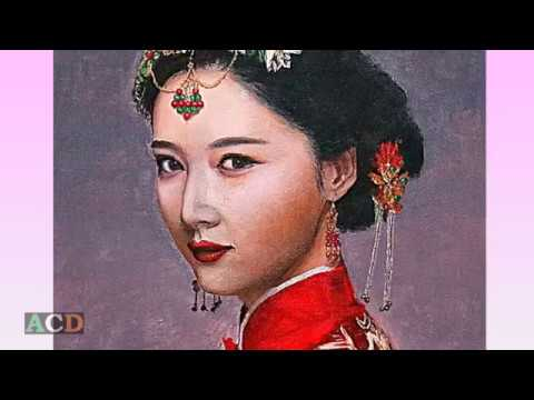Art Gallery in China. Paintings.