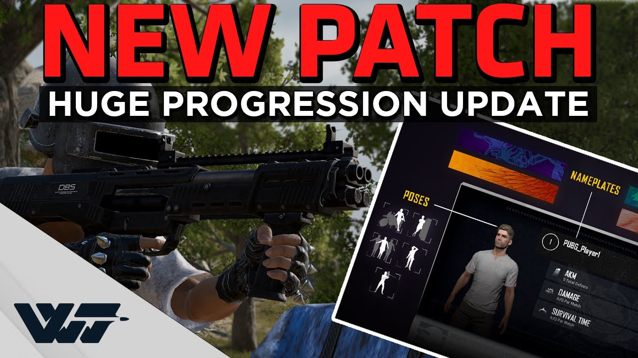 NEW PATCH - New weapon, New survival mastery progression, PUBG ID, new sounds and more - PUBG