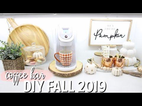DIY FALL COFFEE BAR | EASY + AFFORDABLE FALL HOME DECOR 2019