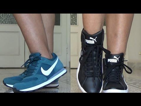 0de8e932f8b Compras de Tenis e Bota Aqui na Itália Nike Puma e Adidas para ir à Academia  - YouTube
