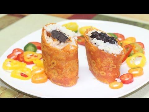 Lunch Box Mini Burrito Wraps Video Recipe By Bhavna - Cinco De Mayo Food Recipe