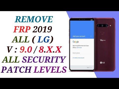 حذف حساب جوجل أكونت من جميع أجهزة REMOVE FRP LG ANDROID 9 0 / 8 X X