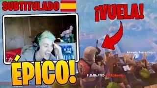 Ninja reacciona a COMO *VOLAR* EN FORTNITE!! - Momentos Divertidos en Fortnite