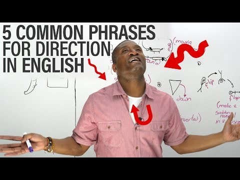 5 Common Direction Phrases in English: UPSIDE DOWN, INSIDE OUT...