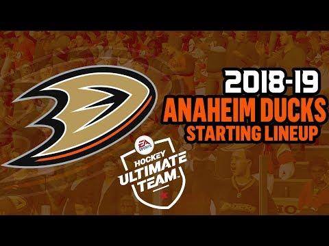 ANAHEIM DUCKS 2018-19 STARTING LINEUP | NHL 18 HUT