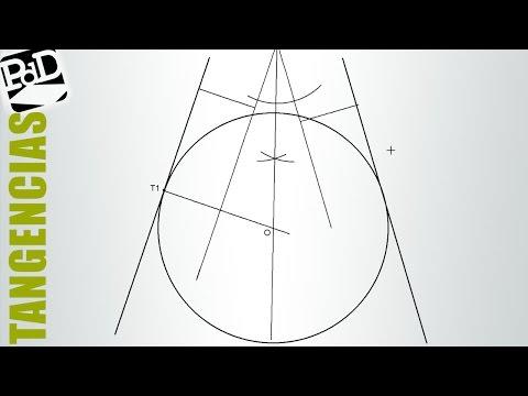Circunferencia tangente a dos rectas concurrentes conociendo un punto de tangencia.