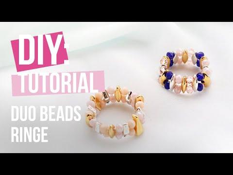 Schmuck machen: Ringe mit Duo Beads herstellen ♡ DIY