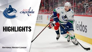 NHL Highlights | Canucks at Capitals 11/23/19