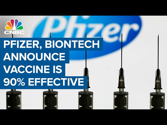 Pfizer's COVID-19 vaccine over 90% effective