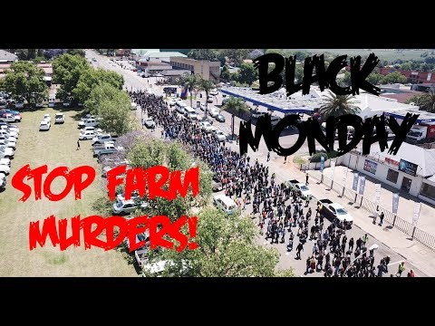 #BlackMonday Protest to Stop Crime and Farm Murders in Piet Retief/Mkhondo | 30 October 2017