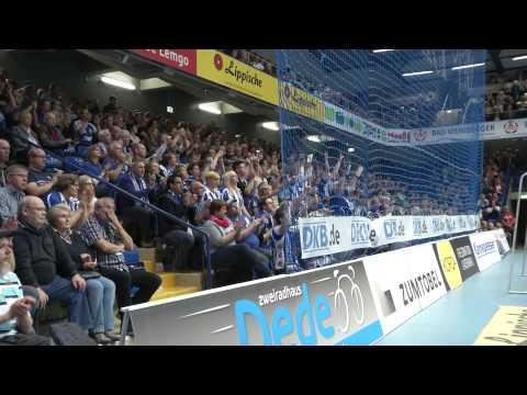 Fanclubs beim Spiel TBV Lemgo gegen THW Kiel