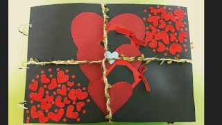 Scrapbook Front Cover Decorations|Scrapbook Ideas|Valentine's Day Card