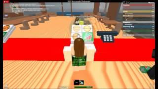 cassiere Tutorial, posto di lavoro presso A Pizza, ROBLOX, con k9gal18