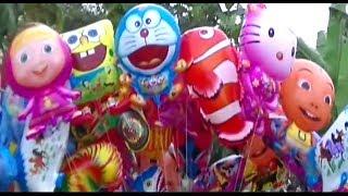 Banyak Mainan Balon Masha, Doraemon, Pokemon, Boboiboy, Upin Ipin, Spongebob, etc | BABY SHARK DANCE