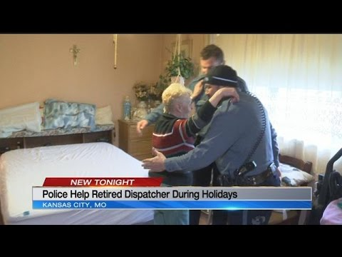 Kansas City police help retired dispatcher during holidays