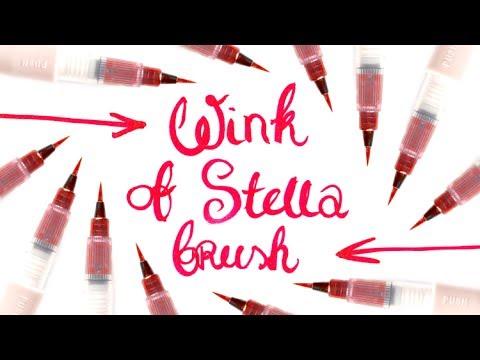 Wink of Stella Brush (Kuretake) - pisak w pędzelku, z migoczącym pyłkiem