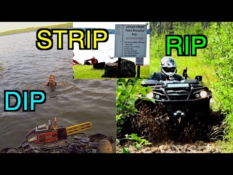 CK Takes A Dip, The Grizzly Tries To Flip and Cubbee Wants To Strip! - Epic ATV Ride - July 17, 2017