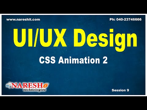 Session: 9   CSS Animation 2   CSS Tutorials   by Mr.Naveen Saggam thumbnail