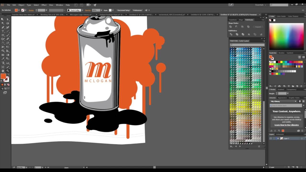 Screen Printing How To Spot Color Separation Using Adobe Illustrator