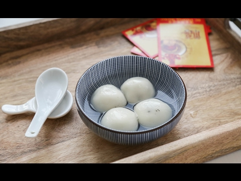 How to Make Black Sesame Tang Yuan | Chinese Glutinous Rice Balls 黑芝麻湯圓 (Recipe)