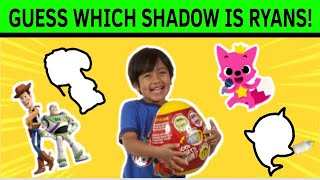 WHERE IS RYAN? | can you guess the right shadows? | #YouTubeforkids | Eggsquizit