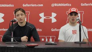 BU Hockey - Dante Fabbro, Patrick Harper Postgame (9/30/17) vs Union