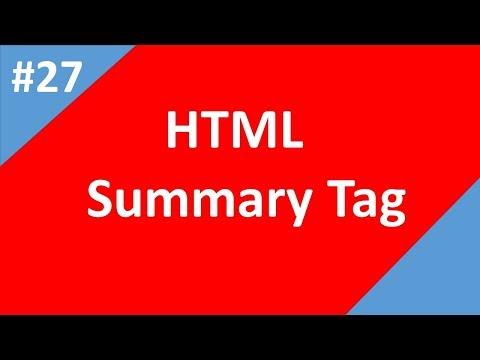 Summary Tag In HTML | Part - 27 | Html Tutorial | Tech Talk Tricks