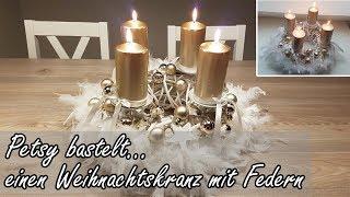 DIY: Schneller und günstiger Adventskranz mit Federn - Advent wreath