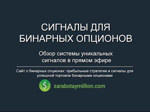 Обзор сигналов для бинарных опционов от сайта zarabotaymillion.com