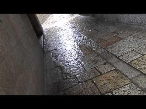 Regen in Jeruzalem
