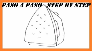 Como dibujar una Plancha paso a paso l How to draw an Iron step by step
