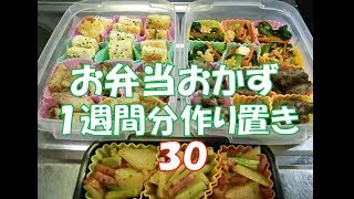 お弁当おかず 1週間分作り置き 【自家製冷食】 30