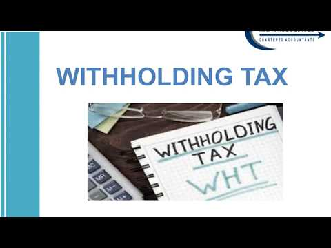 Withholding Tax WHT with effective from 20180401