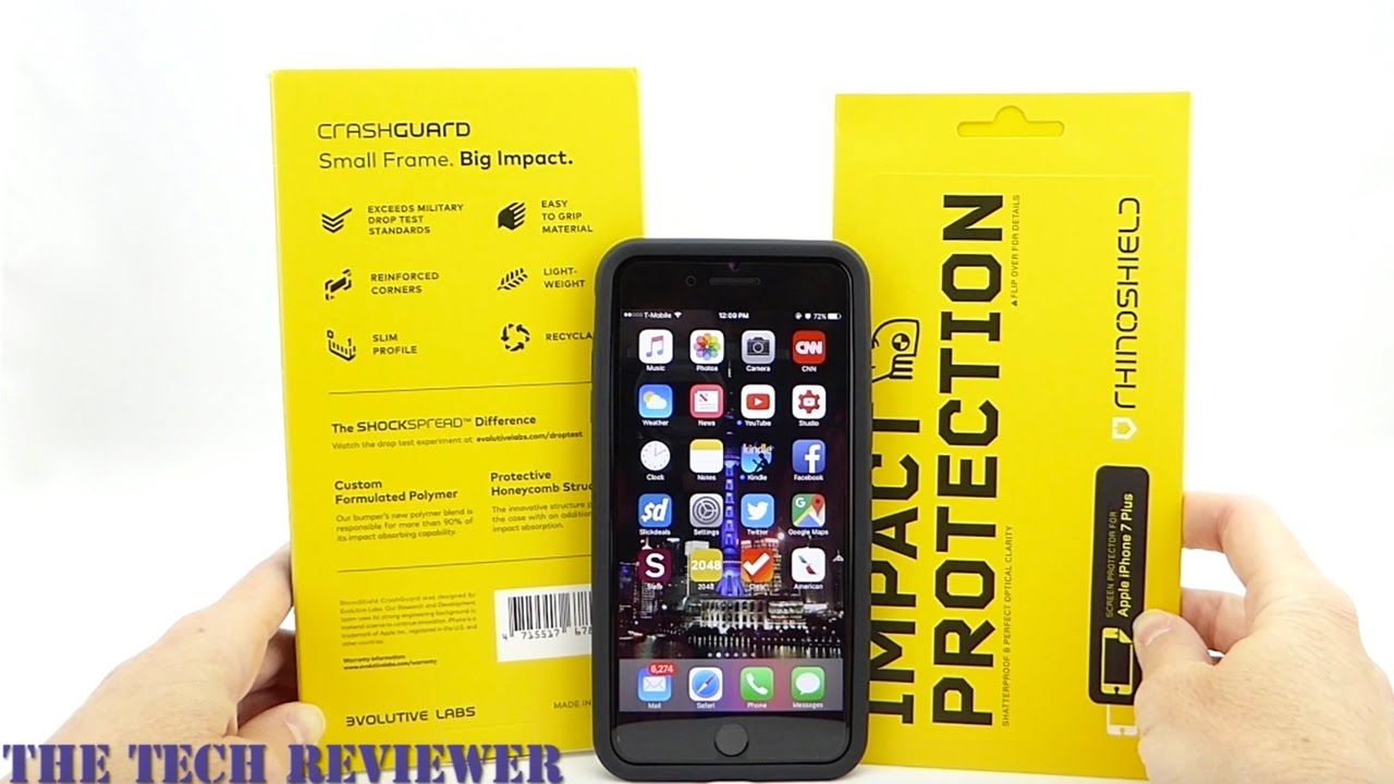 wholesale dealer 702c4 a27aa RhinoShield Screen Protector and Back Protector: 5x Impact Protection for  the iPhone 7 Plus!