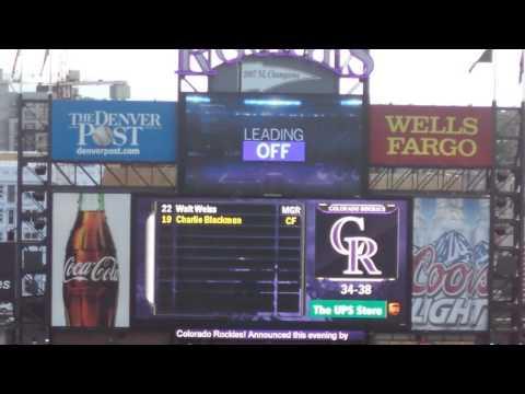 Colorado Rockies Starting Lineup vs. Milwaukee Brewers 6/20/14